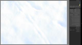 Første eksponering med histogrammet presset mod højre side (dvs. overeksponeret).
